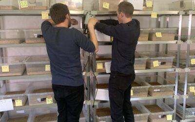 Installation af nyt måleudstyr i melorme produktionen